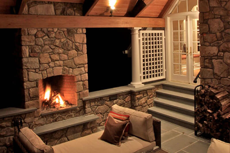 Outdoor Stone and Natural Wood Structures